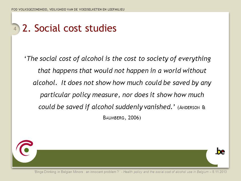 2. Social cost studies