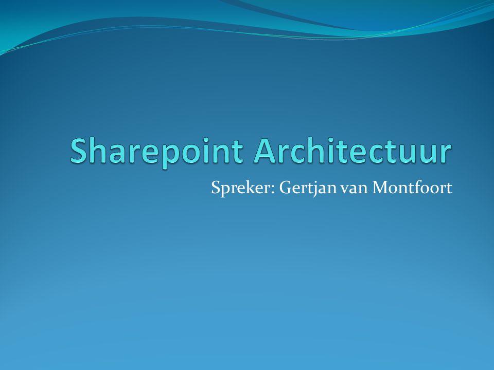 Sharepoint Architectuur