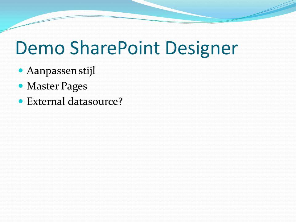 Demo SharePoint Designer