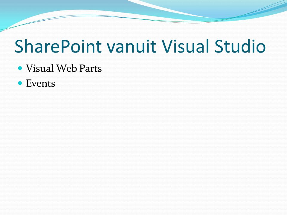 SharePoint vanuit Visual Studio