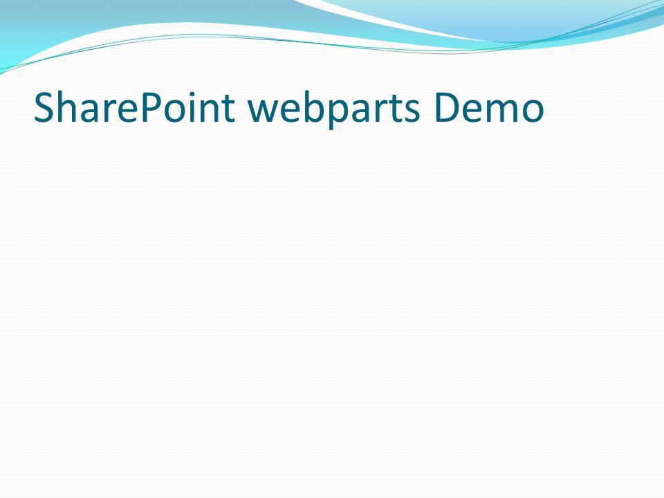 SharePoint webparts Demo