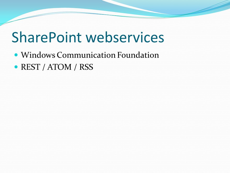 SharePoint webservices
