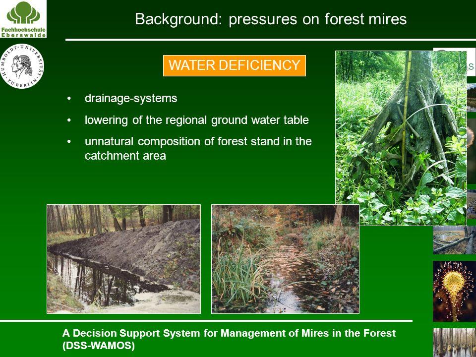 Background: pressures on forest mires