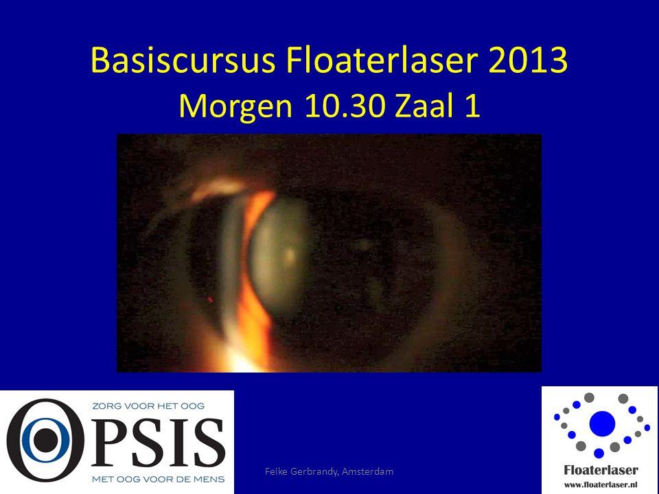 Basiscursus Floaterlaser 2013 Morgen 10.30 Zaal 1