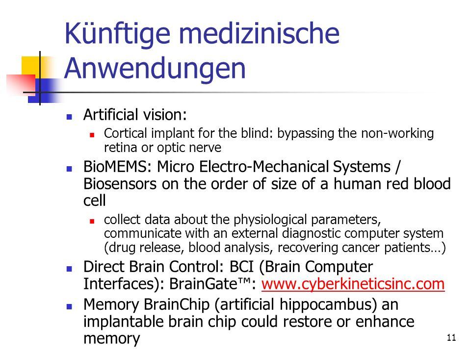 Künftige medizinische Anwendungen