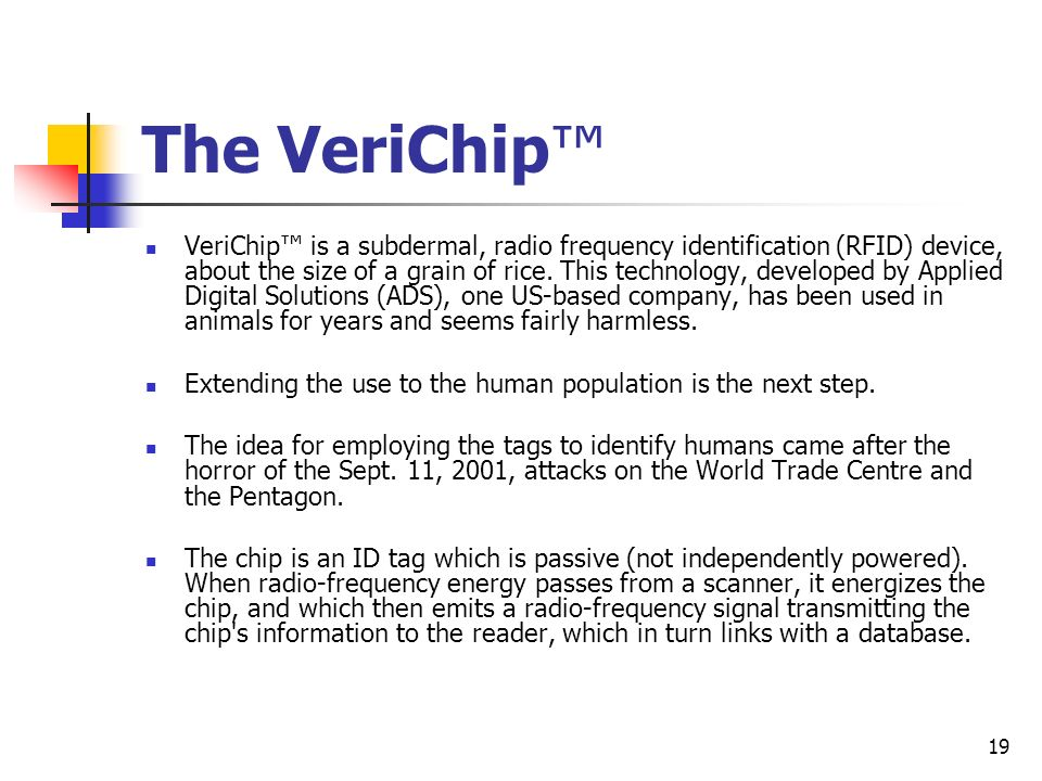 The VeriChip™