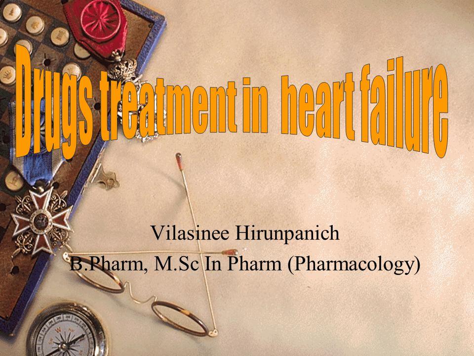 Vilasinee Hirunpanich B.Pharm, M.Sc In Pharm (Pharmacology)