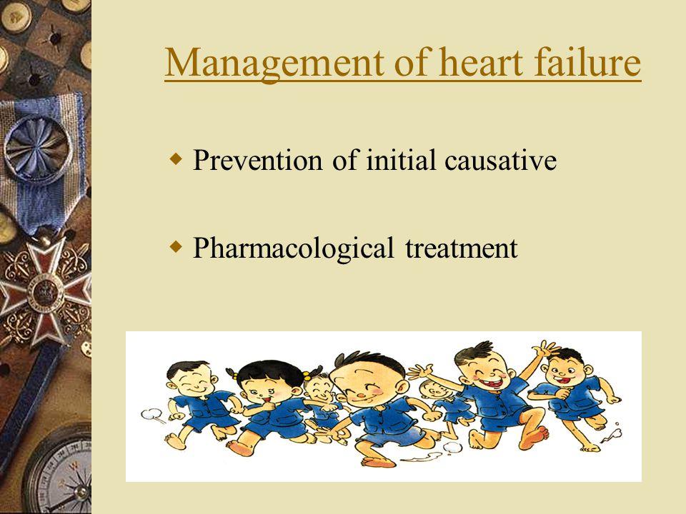 Management of heart failure