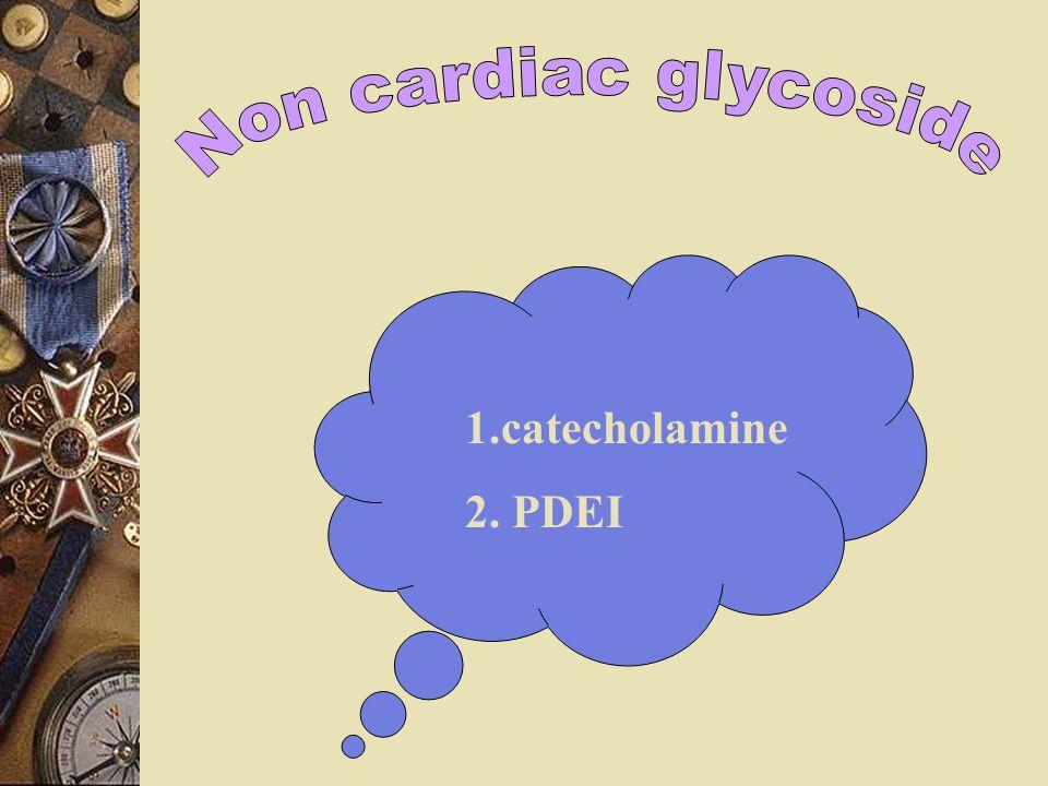 Non cardiac glycoside 1.catecholamine 2. PDEI
