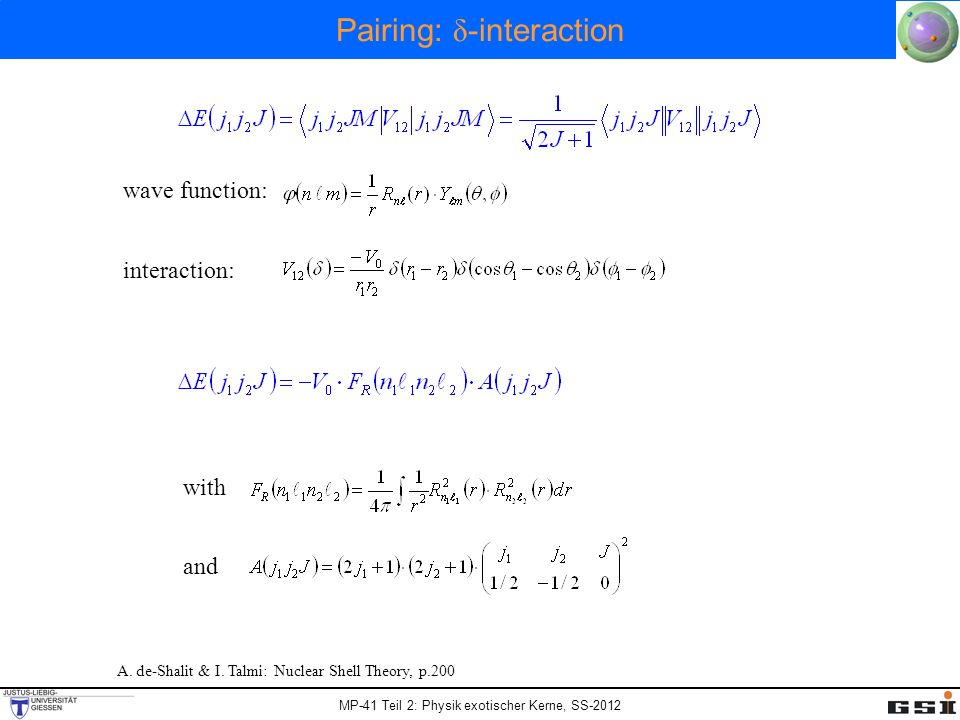 Pairing: δ-interaction