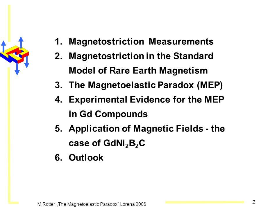 "M.Rotter ""The Magnetoelastic Paradox Lorena 2006"