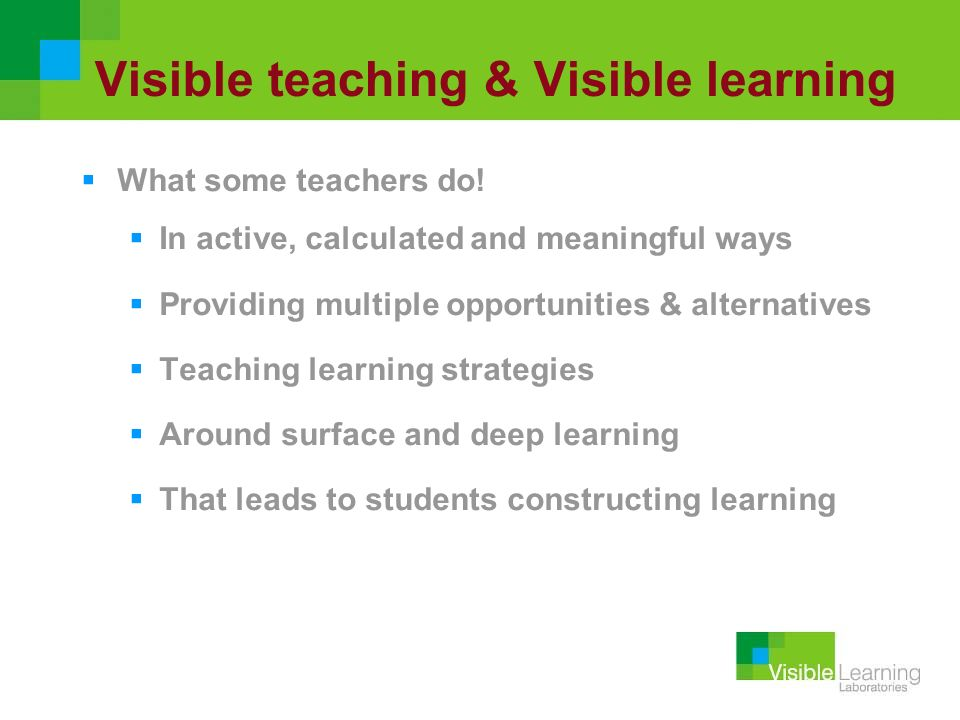 Visible teaching & Visible learning