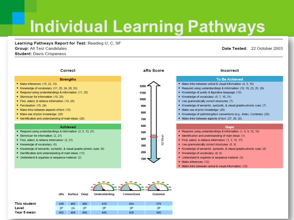 Individual Learning Pathways