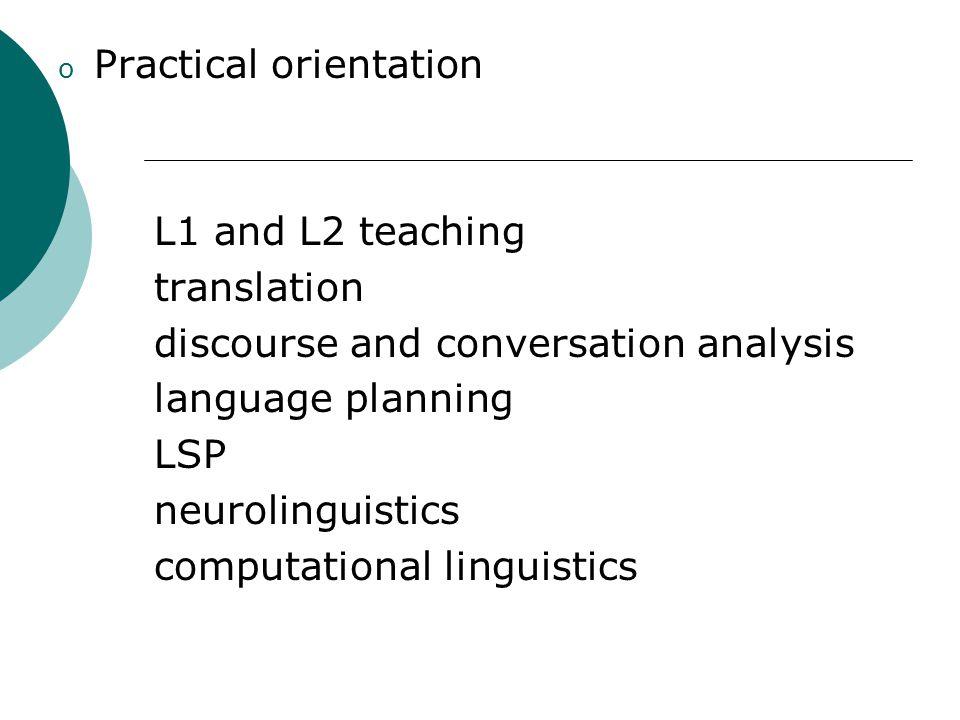 Practical orientation