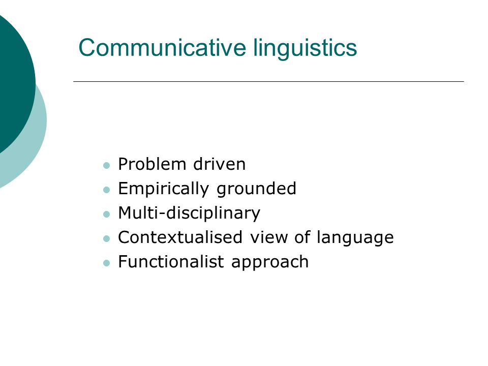 Communicative linguistics