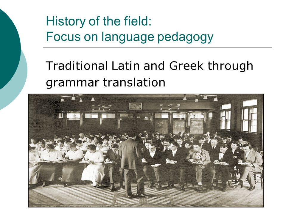 History of the field: Focus on language pedagogy