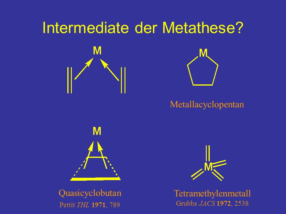 Intermediate der Metathese