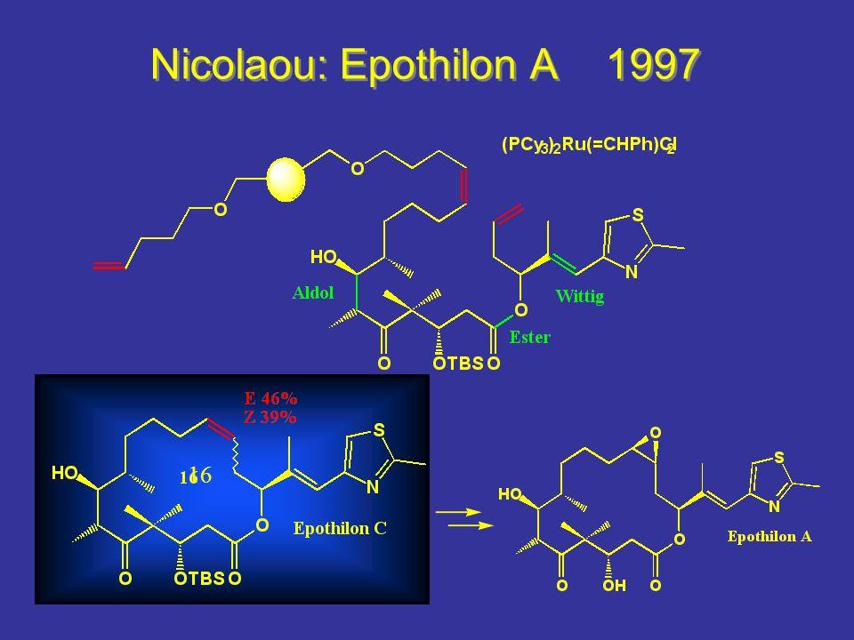 Nicolaou: Epothilon A 1997 M鐷lichkeiten und Grenzen in einem Bild