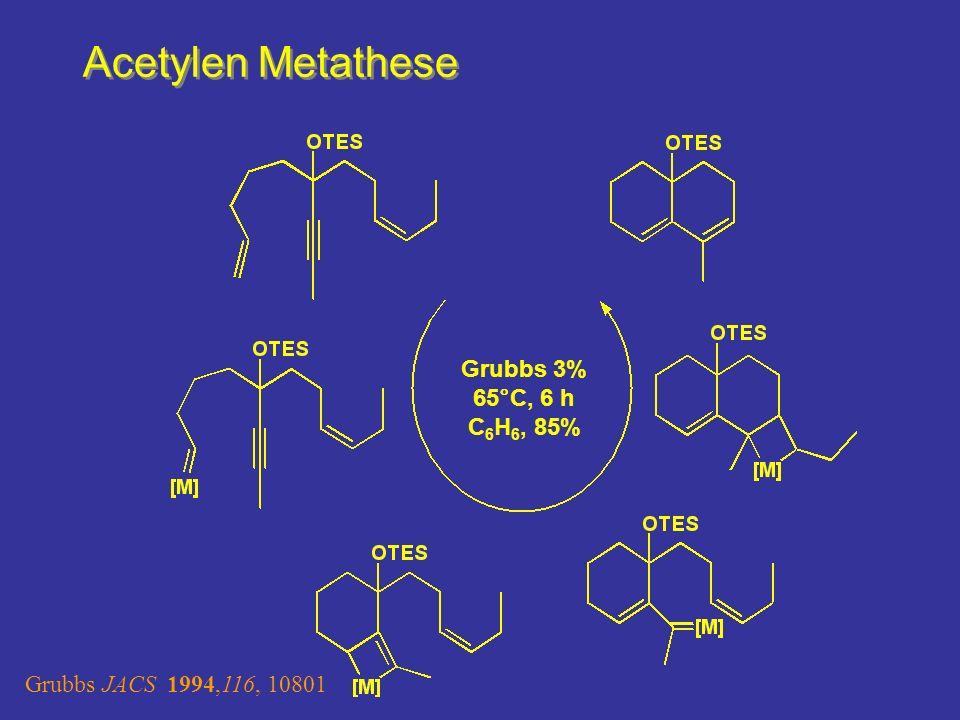 Acetylen Metathese Metallacyclobuten Cycloreversion ergibt stabilen