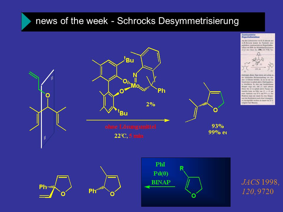 news of the week - Schrocks Desymmetrisierung