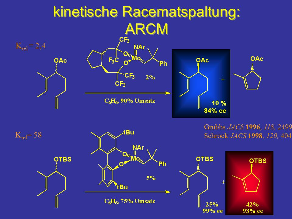 kinetische Racematspaltung: ARCM