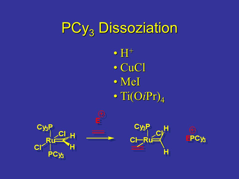 PCy3 Dissoziation H+ CuCl MeI Ti(OiPr)4