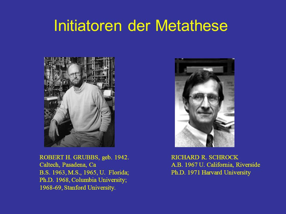 Initiatoren der Metathese