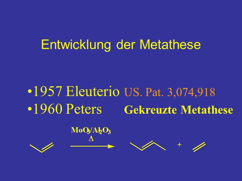Entwicklung der Metathese