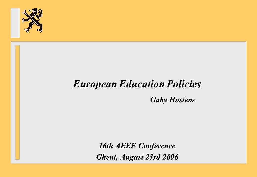 European Education Policies