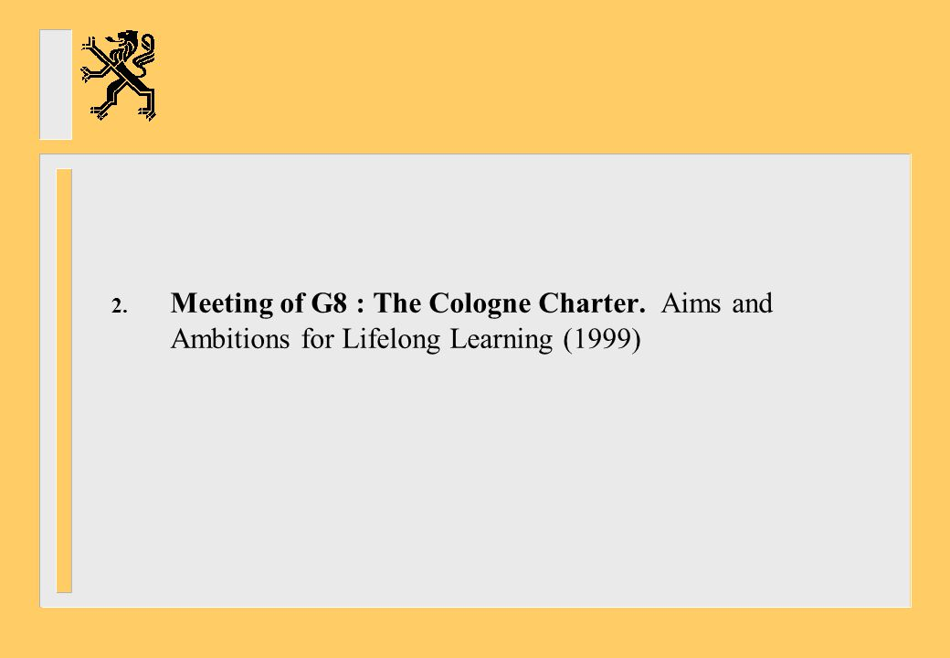 Meeting of G8 : The Cologne Charter