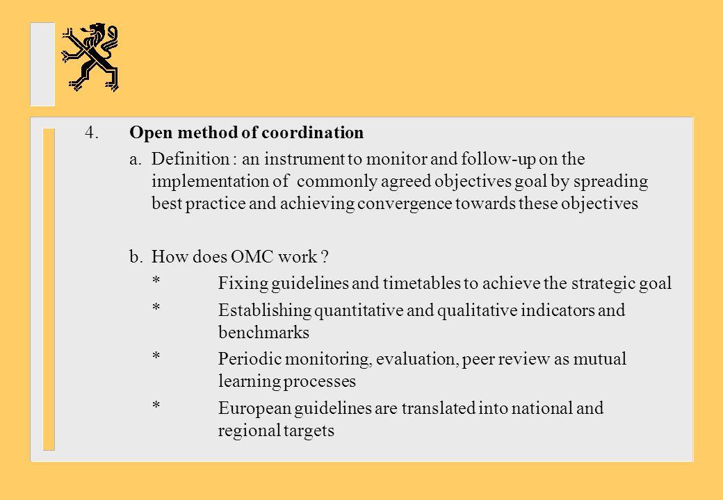 4. Open method of coordination