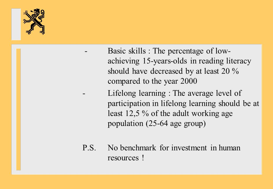 -. Basic skills : The percentage of low-