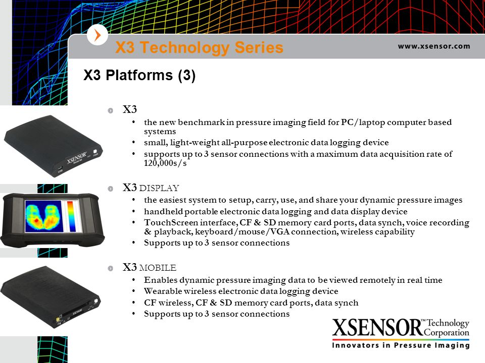 X3 Technology Series X3 Platforms (3) X3 X3 DISPLAY X3 MOBILE
