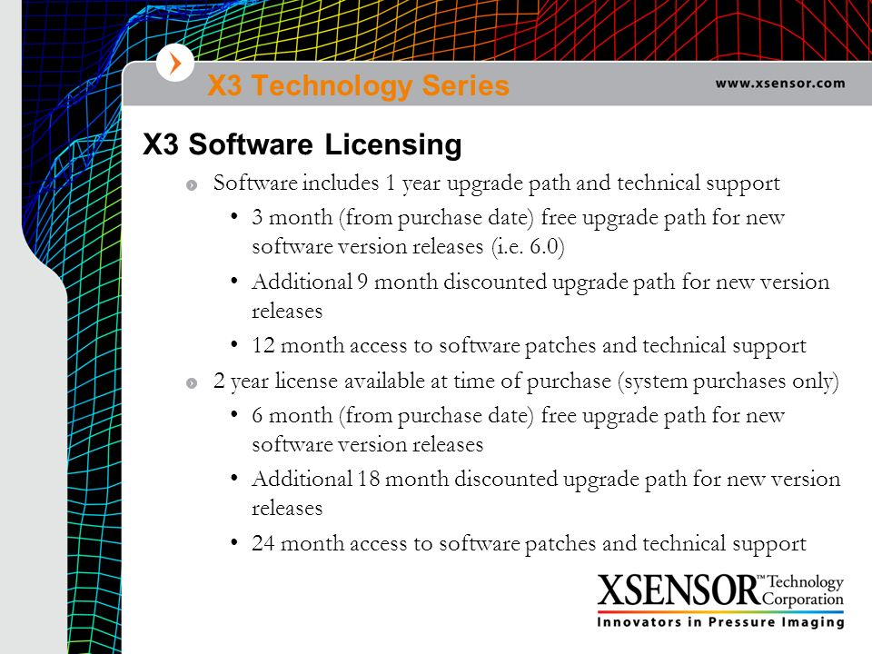 X3 Software Licensing X3 Technology Series