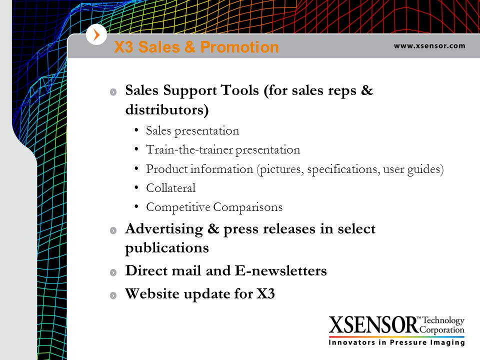 Sales Support Tools (for sales reps & distributors)