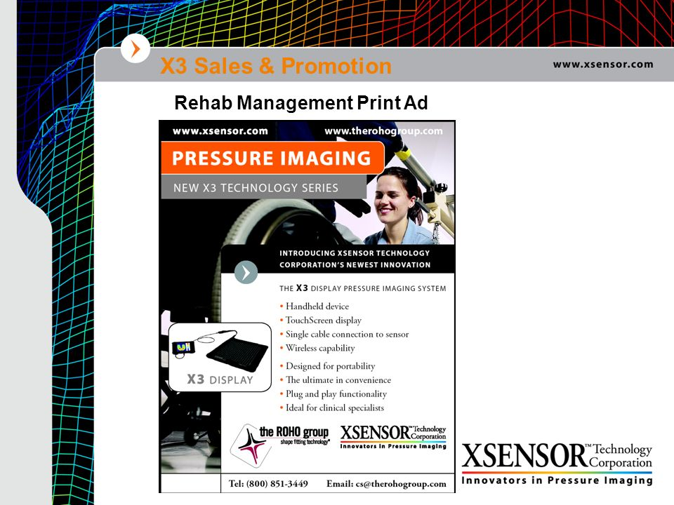 X3 Sales & Promotion Rehab Management Print Ad