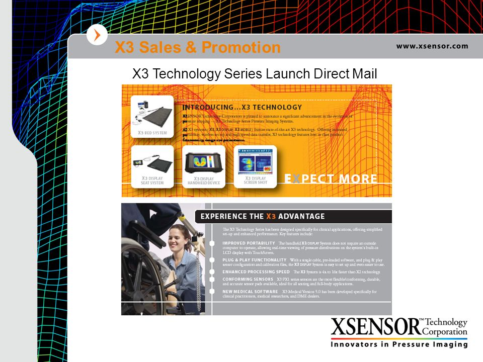 X3 Sales & Promotion X3 Technology Series Launch Direct Mail