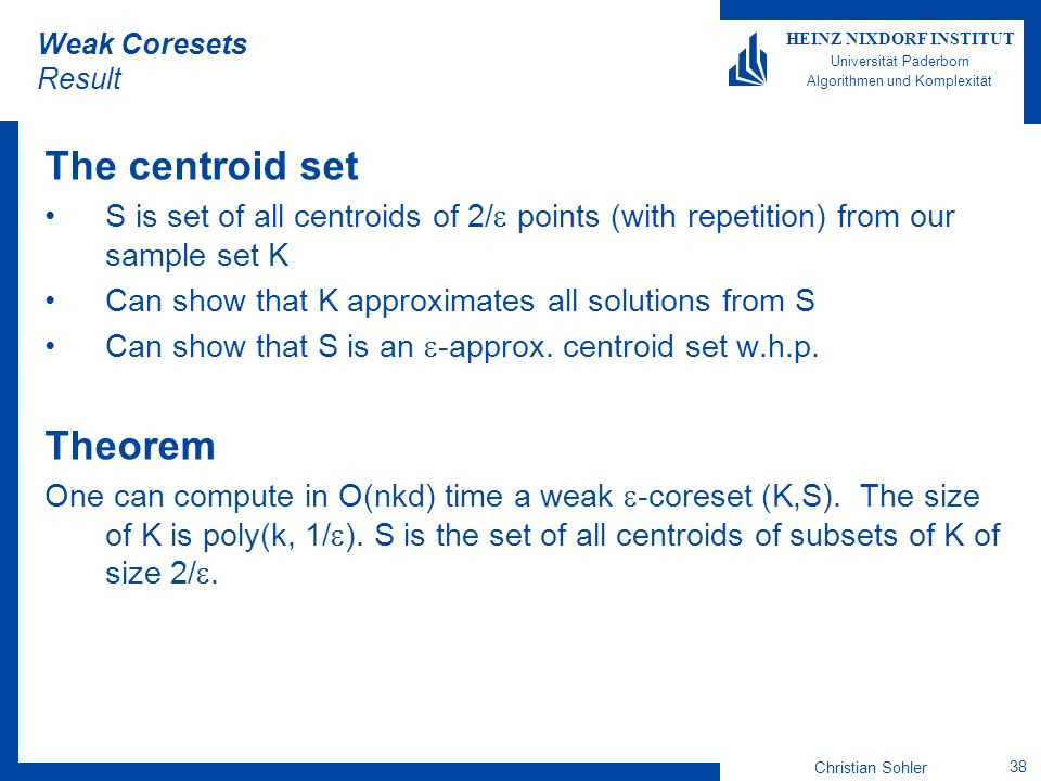 The centroid set Theorem