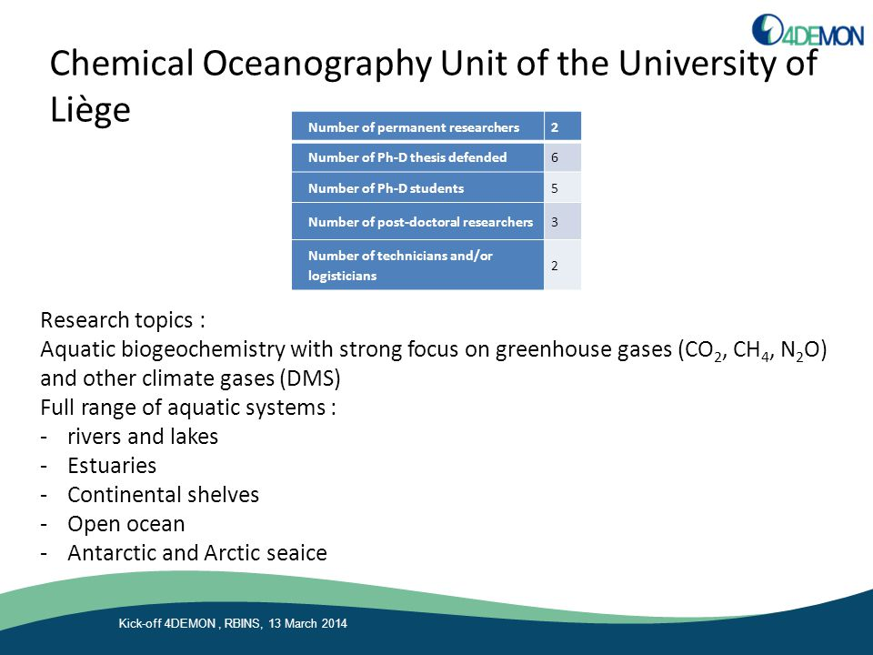 Chemical Oceanography Unit of the University of Liège