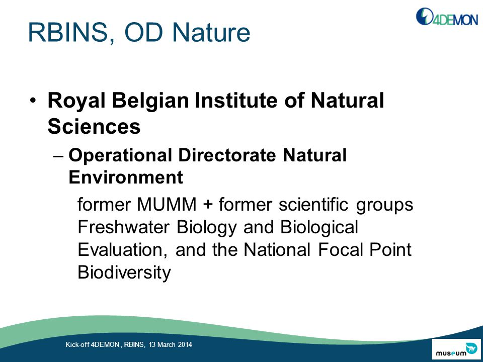 RBINS, OD Nature Royal Belgian Institute of Natural Sciences