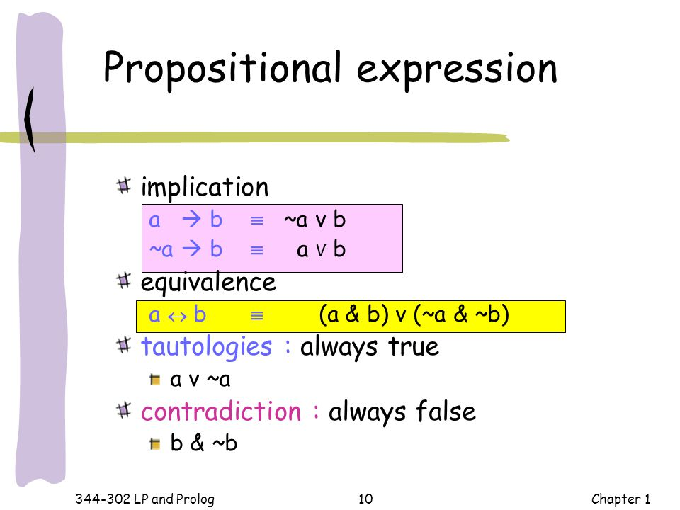 Propositional expression