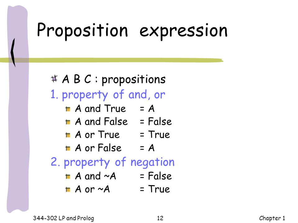 Proposition expression