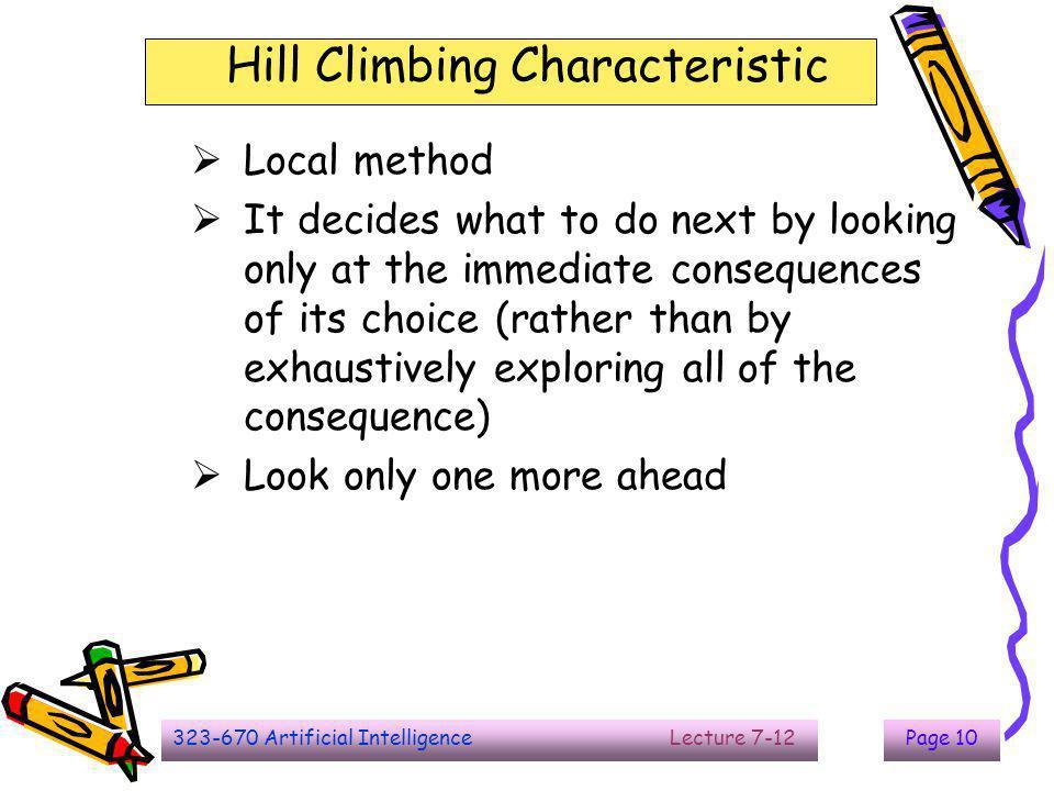 Hill Climbing Characteristic
