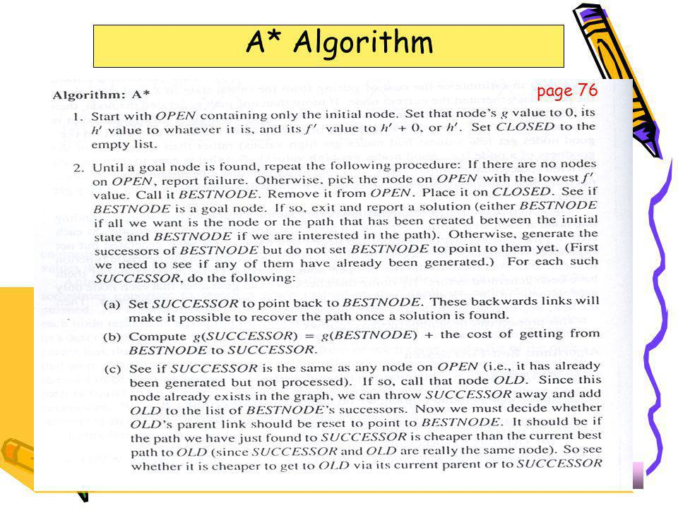 A* Algorithm page 76 323-670 Artificial Intelligence Lecture 7-12