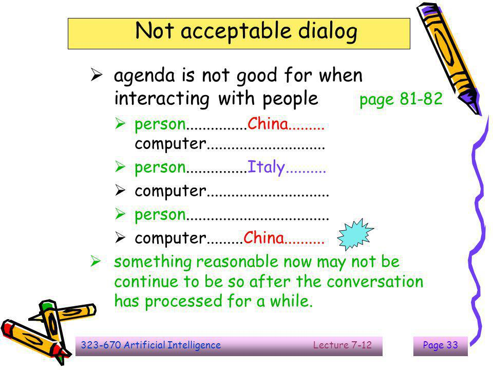 The End Not acceptable dialog