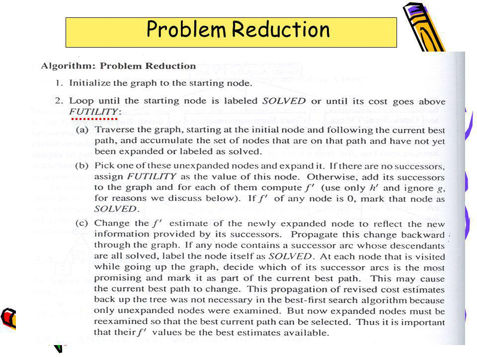 The End Problem Reduction 323-670 Artificial Intelligence Lecture 7-12