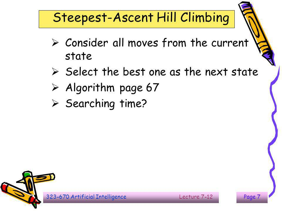 Steepest-Ascent Hill Climbing