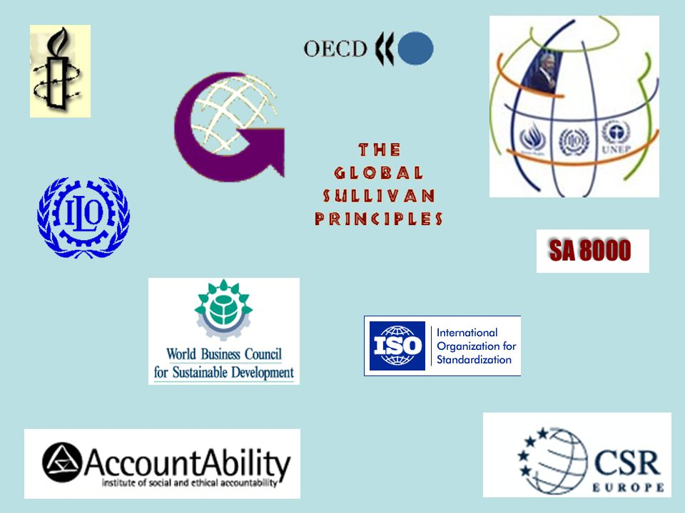 Internasjonale initiativer er bla. de globale 8 som de blir kalt;