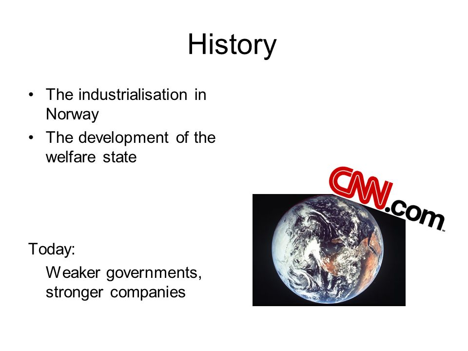 History The industrialisation in Norway