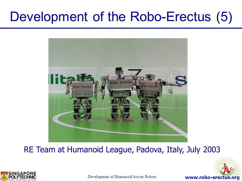 Development of the Robo-Erectus (5)